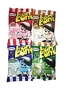 Eiffel Bobn Bons Chewy Candy 4 Oz! Varriety Pack Asoorted Flavor! 3 Pack, Cherry, Caramel & Apple! 4 Pack...