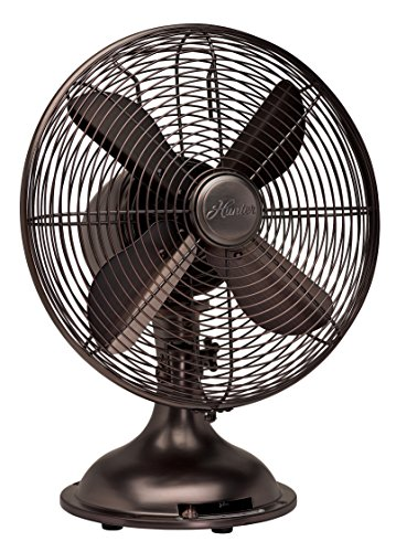 "Hunter 90406 12"" RETRO Fan with Oil Rubbed Bronze Finish (Vintage Style Fan)"