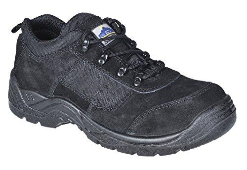 Portwest FT64 - Steelite Trouper zapato 48/13, color Negro, talla 48 Negro