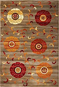 """KAS Oriental Rugs Lifestyles Collection Whimsy Area Rug, 23"""" x 35"""", Slate"""