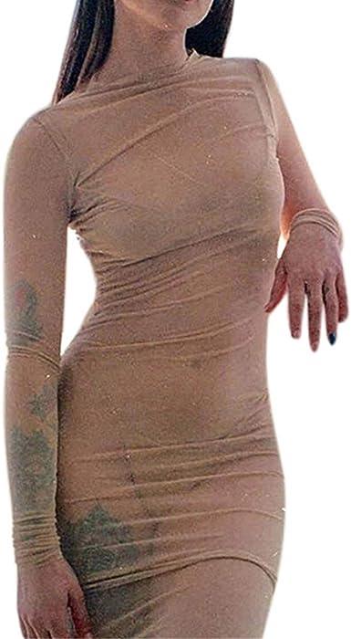 RETUROM-Vestidos ❤ Vestido Mujer, Casuales Cortos de Malla ...