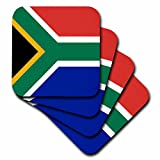 3dRose cst_158432_3 Flag of South Africa-Colorful-Ceramic Tile Coasters, Set of 4