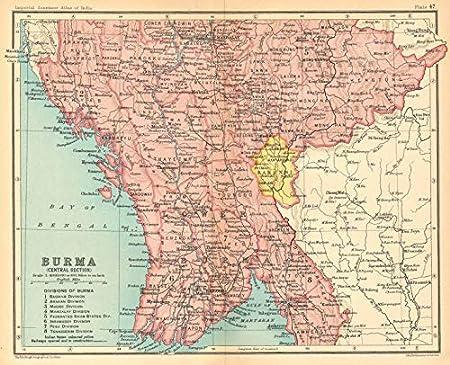 Amazon Com British Burma Central Karenni States Myanmar