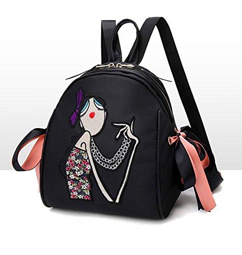 Aoligei Sac à bandoulière féminin avec sacoche sac à bandoulière double Oxford A