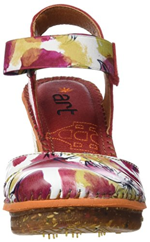 ART 1051 Fantasy Amsterdam, Sandalias con Correa de Tobillo Para Mujer Varios colores (Flowers)