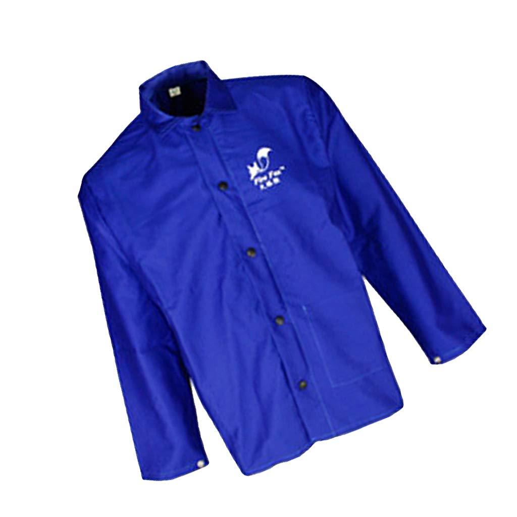 perfk Chaqueta Ropa Protectora Traje de Seguridad Soldadura Azul Welding Soldador: Amazon.es: Ropa y accesorios