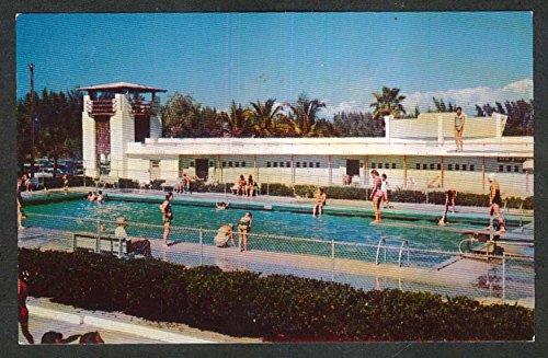 Casino Pool (Lido Beach Pool & Casino Sarasota FL postcard 1950s)