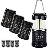 Brightest Camping Lantern (EMITS 350 LUMENS!) 4 Pack LED Lantern - Camping Equipment Gear Lights for Hiking, Emergencies, Hurricanes, Outages, Storms, Great Gift Set