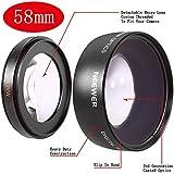 Neewer 58mm 0.45x Grandangolare con Lenti Macro per Canon Digital Rebel T1i, T2i, T3, T3i, T4i, T5i, SL1, EOS 70D, 60D, 50D, 40D, 30D, 5D, 5D Mark 2, 1D, EOS D Digital SLR Fotocamere con Lenti Canon (18-55mm, 55-250mm, 100-300mm, 18-250mm, 70-300mm, 75-300mm, 50mm 1.4, 55-200mm, 24mm) (Borsetta Inclusa)