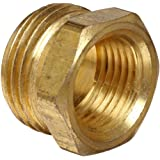 Anderson Metals Brass Garden Hose Fitting, Connector, Male GHT x Female NPT