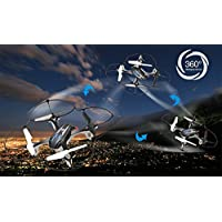 Xisheep Xisheep 4CH RC Drone 6-Axis Gyro Drone 2.4GHz Remote Control Quadcopter With 2.0MP HD Camera - Colors Black (Black)
