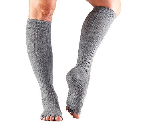 ToeSox Women's Scrunch Knee High Half Toe Socks (Pepper) Medium - Fall Collection 2016