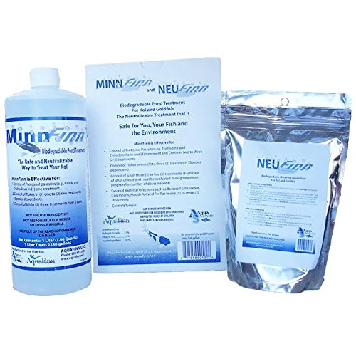 MinnFinnTM Max - Commercial Strength Treatment for Koi and Goldfish Diseases (1 Liter) by AquaFinn