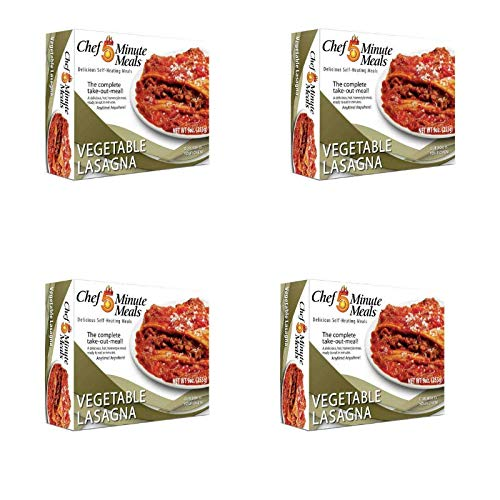 - Chef 5 Minute Meals Self-Heating Boxed Meal Kit - Vegetable Lasagna (4)