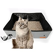 Litter Boxs For Gray Collapsible Portable For Dogs Or Cats Litter Carrier