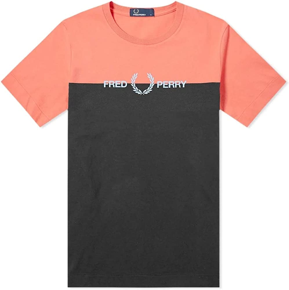 Fred Perry Authentic Split Logo tee Tropical Red-XL: Amazon.es: Ropa y accesorios