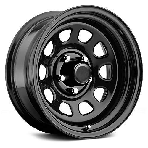 Rock Crawler Series 51 Black Powder Wheel Size 15x10 Bolt Pattern 6x5.5 Back Space 3.75 in.