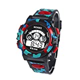 SMTSMT Kids' Outdoor Multifunction Waterproof Sports Watch-Red