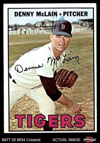 Mclain Denny Tigers Detroit (1967 Topps # 420 Denny McLain Detroit Tigers (Baseball Card) Dean's Cards 3 - VG Tigers)