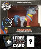 mlp vinyl figure luna - Shining Armor - Translucent Color Chaser: Funko x My Little Pony Vinyl Figure Collection + 1 FREE Official My Little Pony Trading Card Bundle [53499]