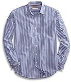 Goodthreads Men's Standard-Fit Long-Sleeve Banker Striped Shirt, Blue, Large