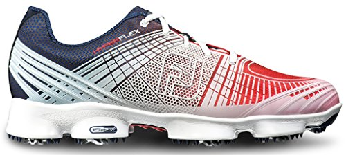 FootJoy Hyperflex II Golf Shoes Red/White/Blue 11 Medium