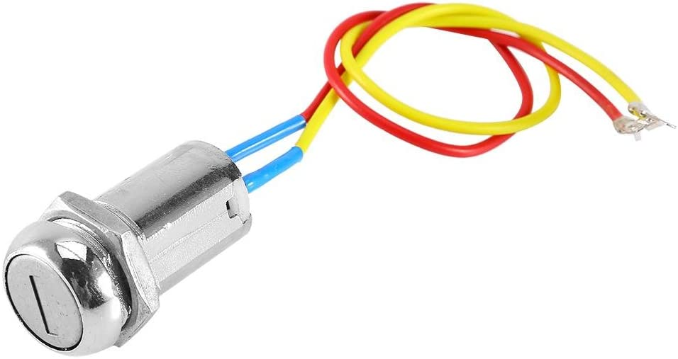 Z/ündschloss Qiilu Z/ündschalter mit 2 Schl/üsseln Universal-Motorstartschalter Z/ündschalter 2x 20 cm Kabel