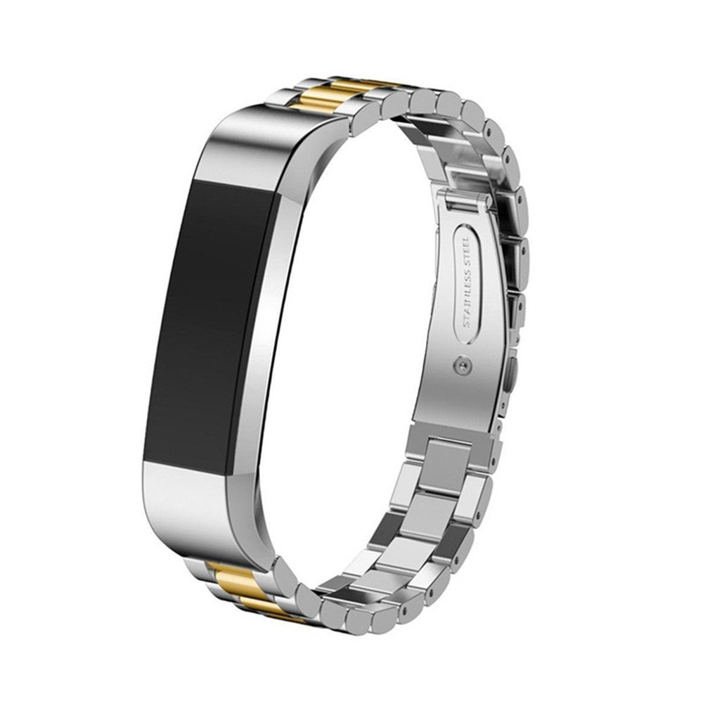 Pumsun ⭐️ Stainless Steel Replacement Metal Wristband Watch Band Strap for Fitbit ACE (Gold)