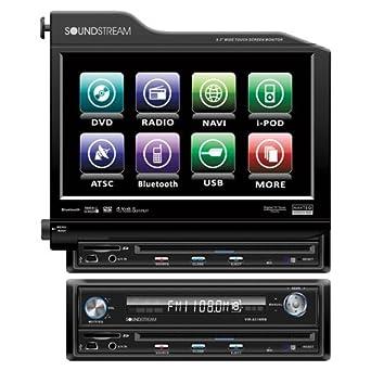 Soundstream VIR-8300NR 8.3 1 Din Flip-Out CD DVD NAV iPod USB AUX Player