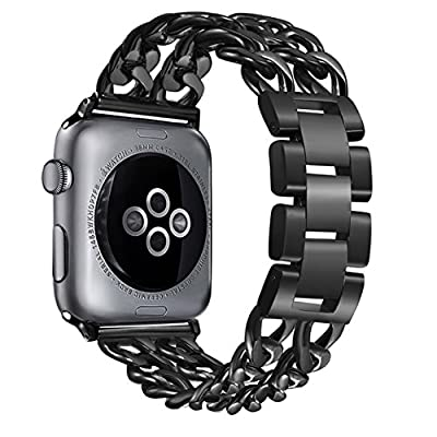 bayite For Fitbit Versa Bands for Women, Stainless Steel Bling Replacement Band Bracelet with Rhinestones Diamond X-Link for Fitbit Versa Accessories Watch Band, 5.3''-7.6''
