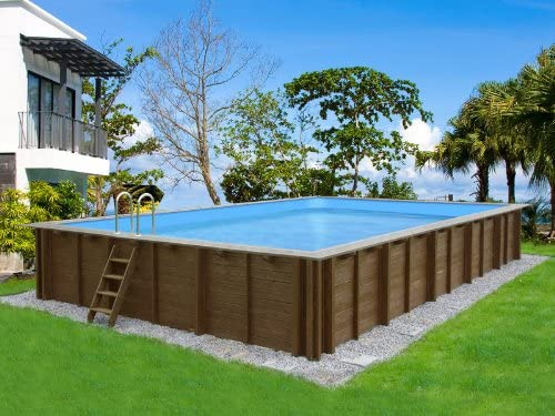 Viva Pool – Piscina madera Canarias – 8.34 X 4.92 X 1.38 M: Amazon ...