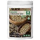Naturevibe Botanicals Organic Coriander Seeds - 1 lb (16 Ounces) - Coriandrum sativum | Raw, Gluten-Free & Non-GMO | Better Digestion | Hair Growth | Beautiful Skin.