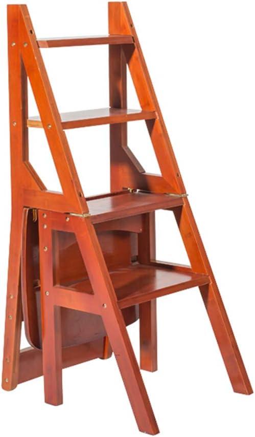 Taburete Plegable marrón Escalera Taburete de Doble Uso de 4 Capas para Escalar Silla para escaleras Estante portátil para Flores/Banco de Zapatos/Estante de Almacenamiento: Amazon.es: Hogar