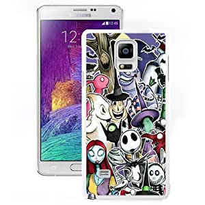 Nice and Durable Note4 Case Design with Nightmare Before Christmas White Phone Case for Samsung Galaxy Note 4 N910S N910C
