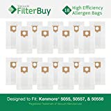 kenmore 50557 - FilterBuy 18 Kenmore Type C 5055, 50557 and 50558 Allergen Vacuum Cleaner Bags. Designed to fit Kenmore 20-5055, 20-50557, 20-50558. Compare to Kenmore # 433934.