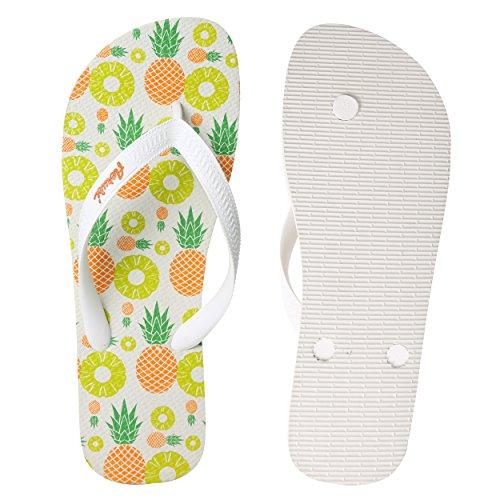 Amusant Flip Flop Chambre À Coucher Pantoufle Plage Extérieure Quatre Saisons Été Hiver Beau Confort Vêtements De Nuit Ananas