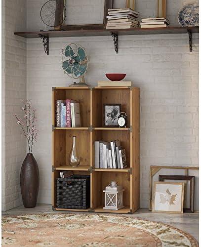 Bush Furniture kathy ireland Home Ironworks 6 Cube Bookcase