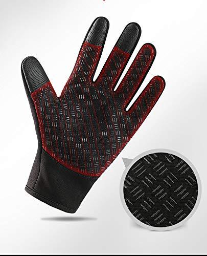 Outdoor Gloves Riding Velluto Women Heat Zipper Amdxd nero Winter Waterproof Movement EwCaIPqF
