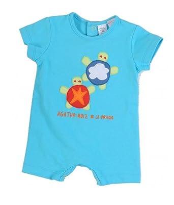 Agatha Ruiz De La Prada Baby Boys Sea Turtles Summer Romper (9 Months)