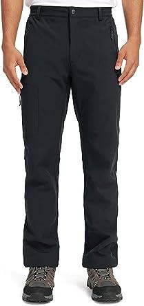 A Prueba de Viento Pantal/ón de Senderismo CAMEL CROWN Mujer Pantalones de Softshell Impermeables con Forro Polar Pantalones para Esqu/í Snowboard Monta/ña Escalada Trekking Trabajo Oto/ño Invierno