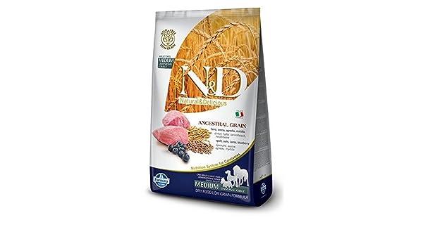 Farmina - Farmina N&D Cordero y Arandano Adult Medium Low Grain - 1069 - 2,5 kg: Amazon.es: Productos para mascotas