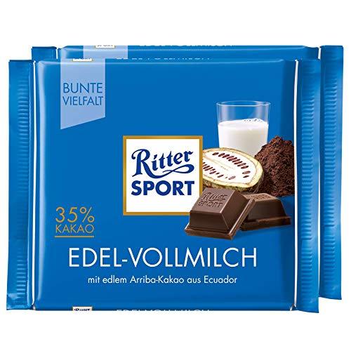 Ritter Sport Fine Milk Chocolate Bar Candy Original German Chocolate 100g/3.52oz (Pack of 2)