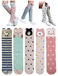 QandSweet Little Girls Knee High Socks Cute Animal Thigh High Stockings 15 Inch 2-5T