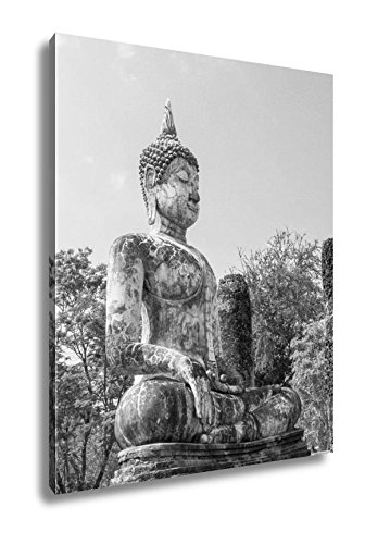 Ashley Canvas Ancient Ancient Buddha Statues In The Ancient Thai Capital Of Ayutthaya In The, Home Office, Ready to Hang, Black/White 25x20, AG5264806 by Ashley Canvas