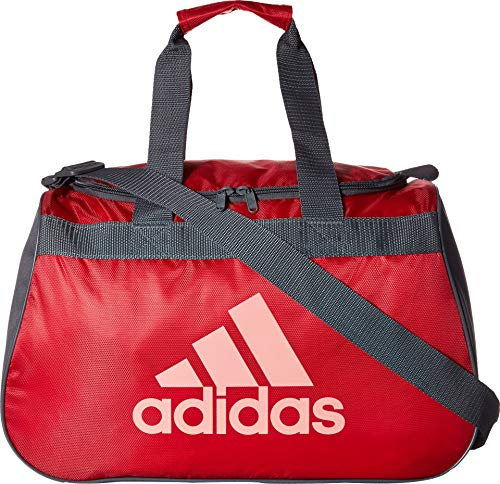 (adidas Limited Edition Diablo Small Duffel Gym Bag in Bold Colors - (Energy Pink/Onix/Ray Pink))