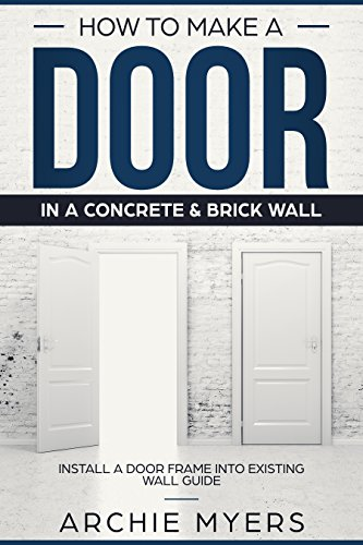 How To Make a Door In a Concrete & Brick Wall: Install a Door Frame ...