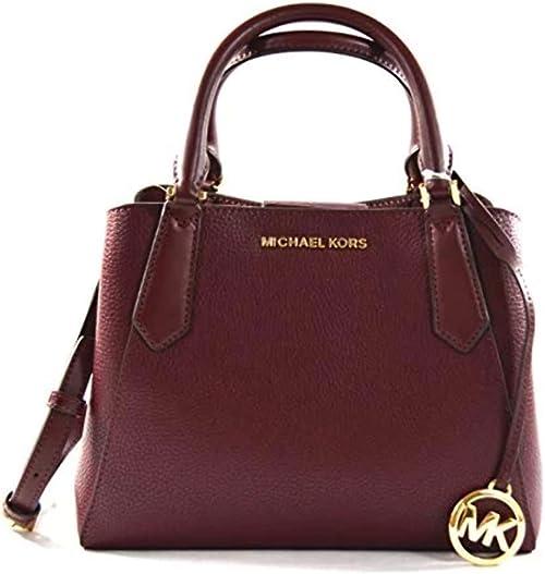 Michael Kors Kimberly Leather Small Satchel Handbag