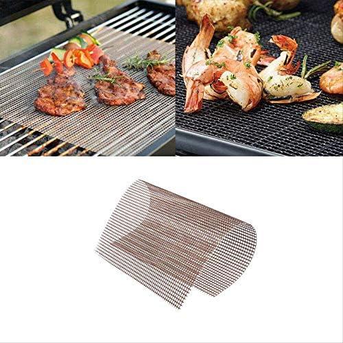yitan Tapis de Cuisson Tapis Barbecue Barbecue Grill Mesh Mat-Set De 5 Antiadhésive réutilisable Heavy Duty 13x15.75 Pouce Résistant à la Chaleur-Facile à Nettoyer