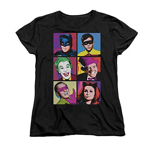 Batman Classic Live-Action TV Series Pop Art Cast Women's T-Shirt Tee