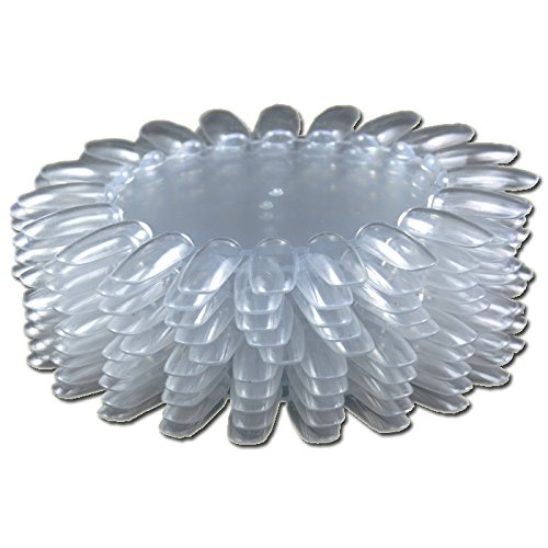 Beauties Factory 10 x Clear Color Display Practice Nail Tip Wheel